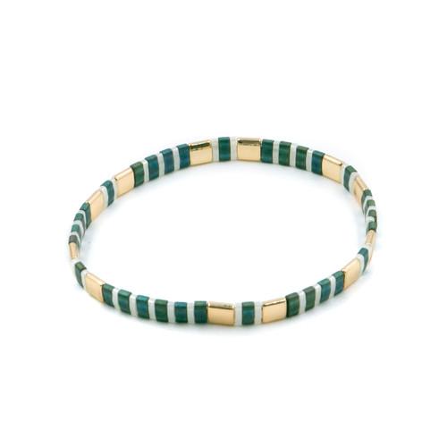 Miyuki Tila Premium Stretch Bracelet by Splendid Iris