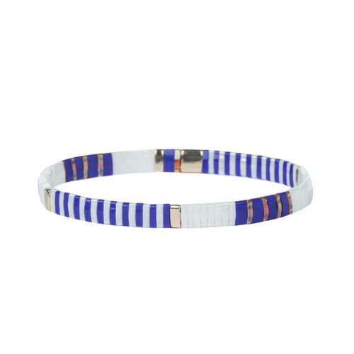 Miyuki Tila Crystal Premium Stretch Bracelet by Splendid Iris