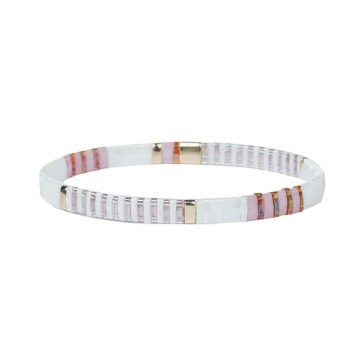 Miyuki Tila Tiffany Premium Stretch Bracelet by Splendid Iris
