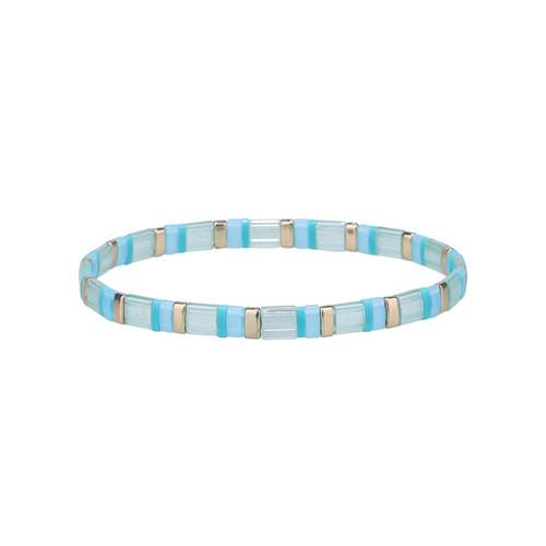 Miyuki Tila Ariela Gold Premium Stretch Bracelet by Splendid Iris