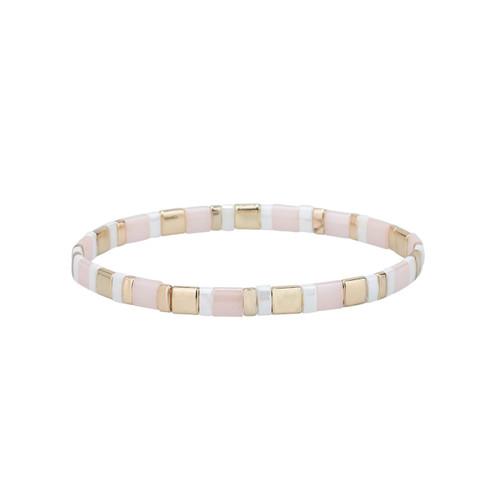 Miyuki Tila Isabella Gold Premium Stretch Bracelet by Splendid Iris
