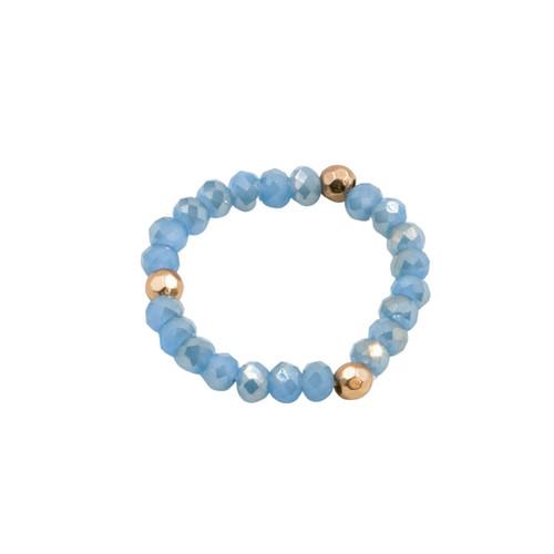 Blue Stretch Cystal Ring by Splendid Iris