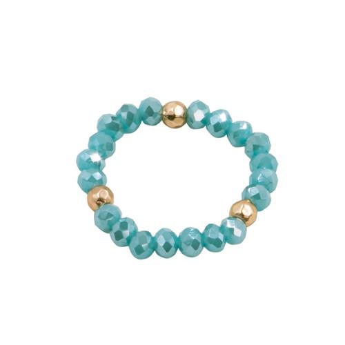 Aqua Stretch Cystal Ring  by Splendid Iris