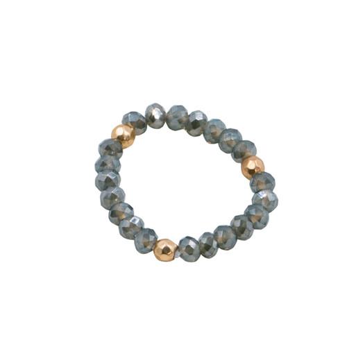 Gray Stretch Cystal Ring by Splendid Iris