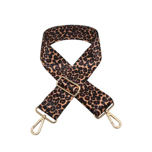 Adjustable Guitar Strap In Leopard Mustard by Jen & Co.