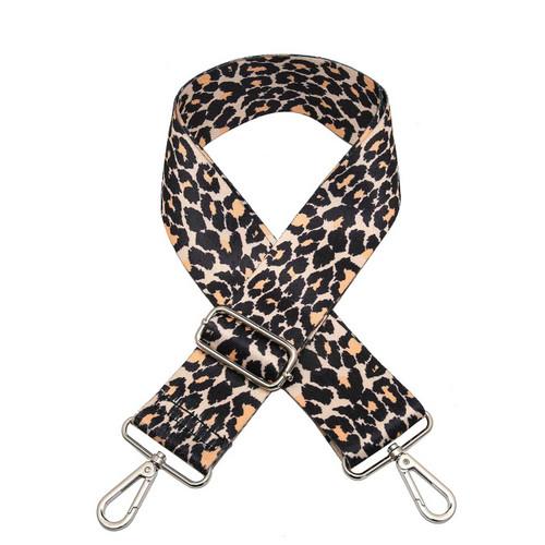 Adjustable Guitar Strap In Leopard-Pink/Khaki by Jen & Co.