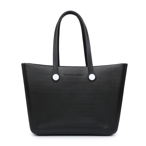 Carrie All Versa Tote With Interchangeable Straps In Black by Jen & Co.