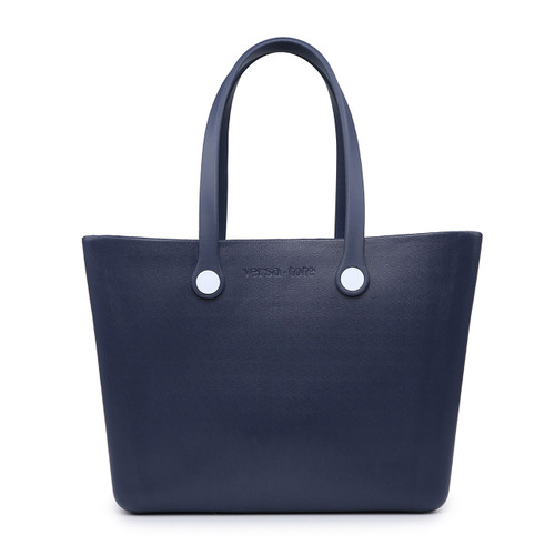 Carrie All Versa Tote With Interchangeable Straps In Navy by Jen & Co.