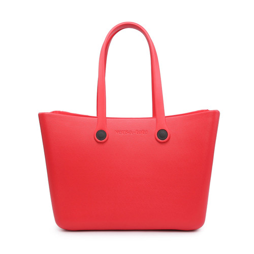 Carrie All Versa Tote With Interchangeable Straps In Red by Jen & Co.