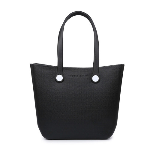 Vira Versa Tote With Interchangeable Straps In Black by Jen & Co.