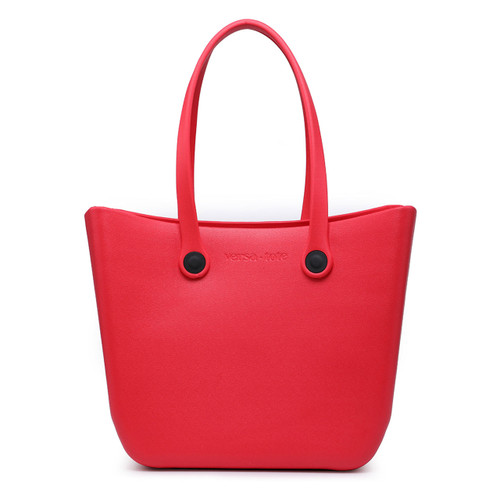 Vira Versa Tote With Interchangeable Straps In Red by Jen & Co.