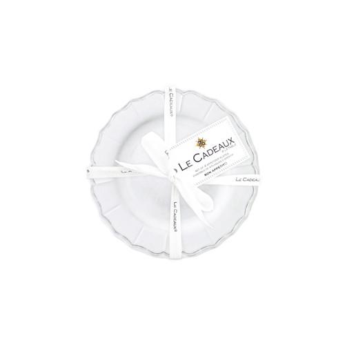 6.5 in. Appetizer Plates (set of 4) Terra White by Le Cadeaux