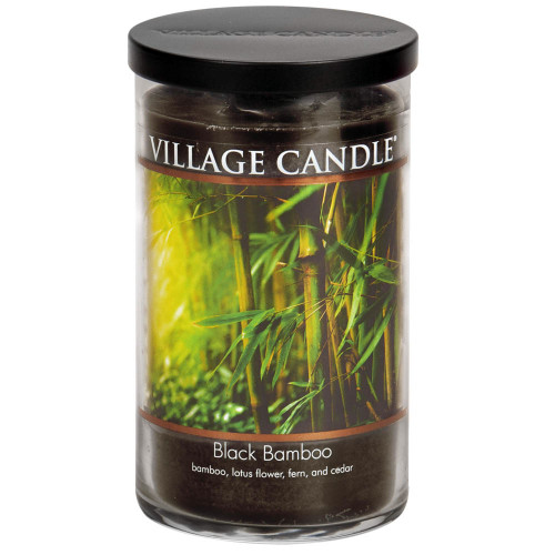 Black Bamboo Large Tumbler Jar Candle by Village Candle