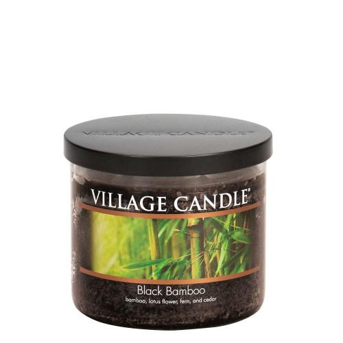 Black Bamboo Medium Bowl Jar Candle by Village Candle
