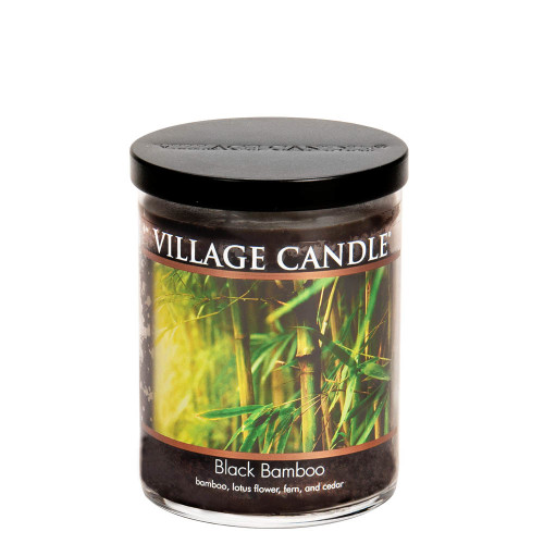 Black Bamboo Medium Tumbler Jar Candle by Village Candle