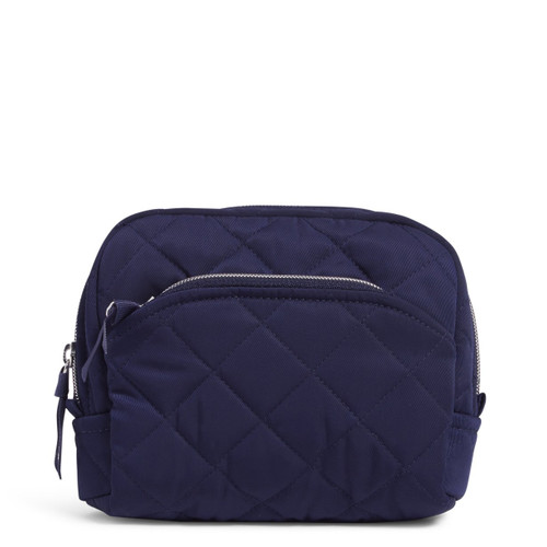 Quilted Medium Cosmetic Performance Twill Classic Navy by Vera Bradley