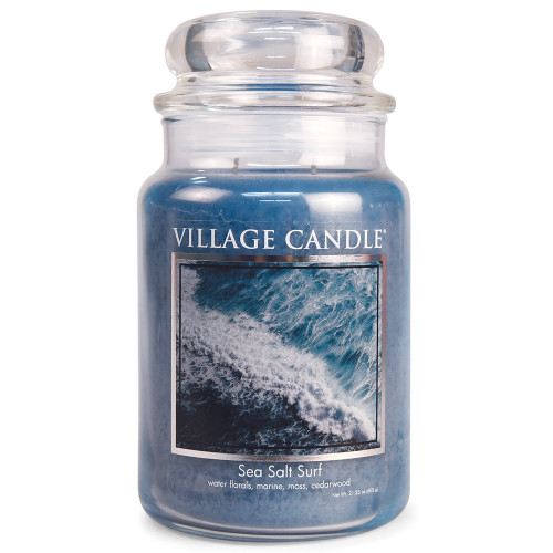 Sea Salt Surf Large Glass Dome Jar Candle by Village Candle