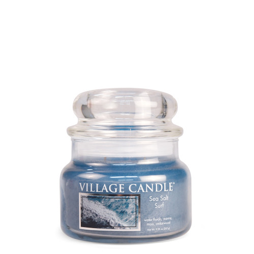 Sea Salt Surf Small Glass Dome Jar Candle by Village Candle