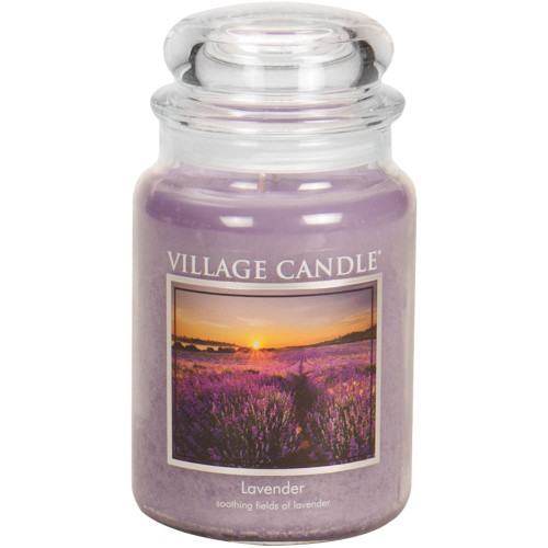Lavender Large Glass Dome Jar Candle by Village Candle
