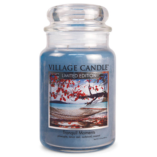 Tranquil Moments Large Glass Dome Jar Candle by Village Candle