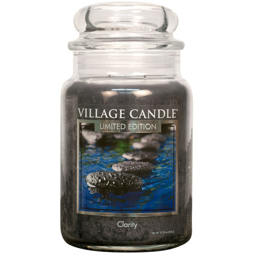 Clarity Large Glass Dome Jar Candle by Village Candle