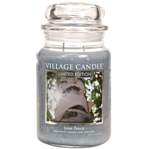 Inner Peace Large Glass Dome Jar Candle by Village Candle
