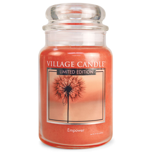 Empower Large Glass Dome Jar Candle by Village Candle