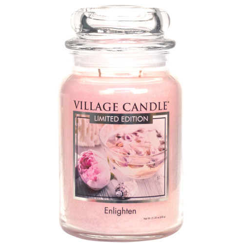Enlighten Large Glass Dome Jar Candle by Village Candle