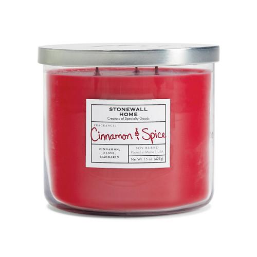 Cinnamon & Spice Medium Bowl Jar Candle by Stonewall Home