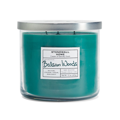 Balsam Woods Medium Bowl Jar Candle by Stonewall Home