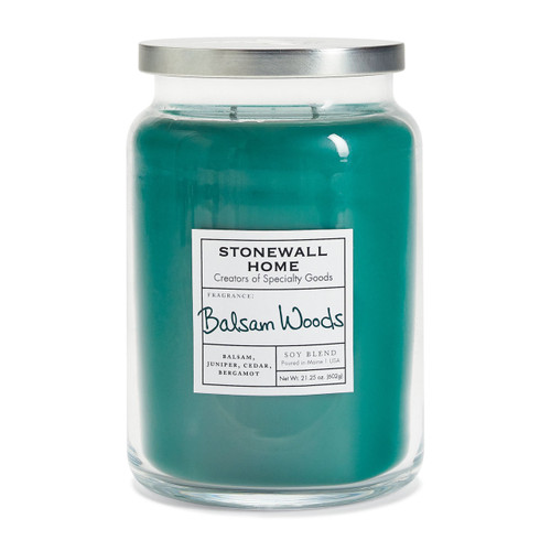 Balsam Woods Large Apothecary Jar Candle by Stonewall Home