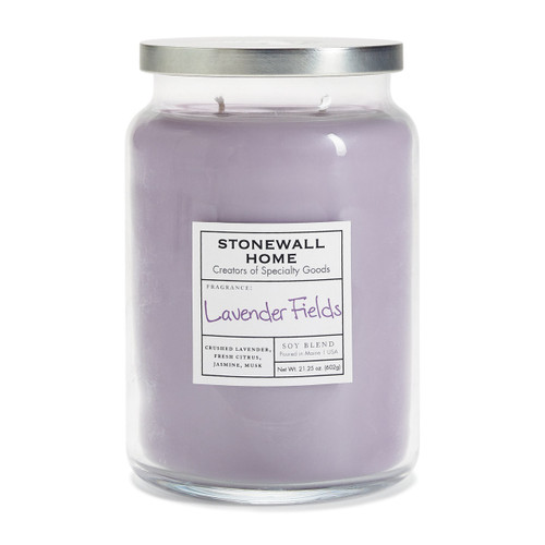 Lavender Fields Large Apothecary Jar Candle by Stonewall Home