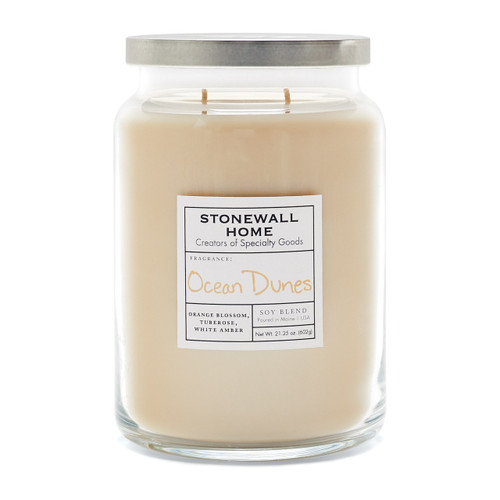 Ocean Dunes Large Apothecary Jar Candle by Stonewall Home