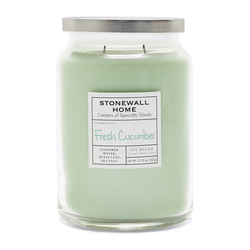 Fresh Cucumber Large Apothecary Jar Candle by Stonewall Home