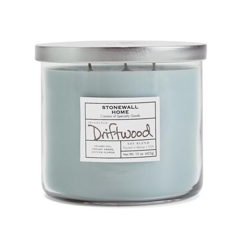 Driftwood Medium Bowl Jar Candle by Stonewall Home