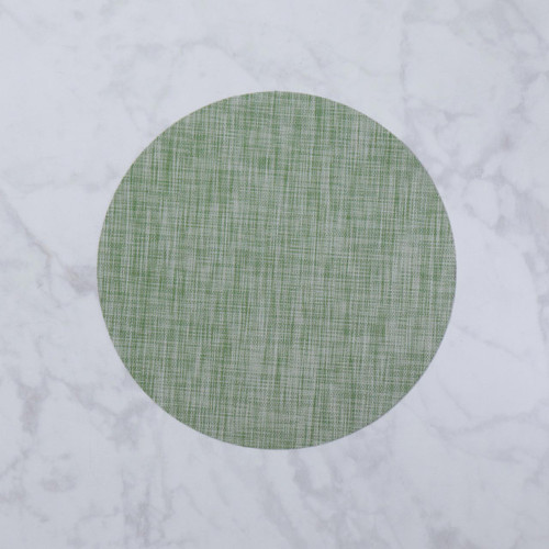 VIDA Indoor/Outdoor Placemat Green Woven Round/Set of 4 by Beatriz Ball