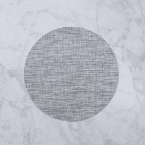 VIDA Indoor/Outdoor Placemat Grey Woven Round/Set of 4 by Beatriz Ball
