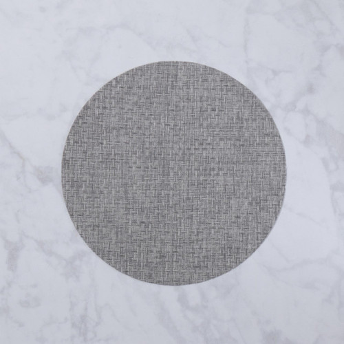 VIDA Indoor/Outdoor Placemat Charcoal Woven Round/Set of 4 by Beatriz Ball