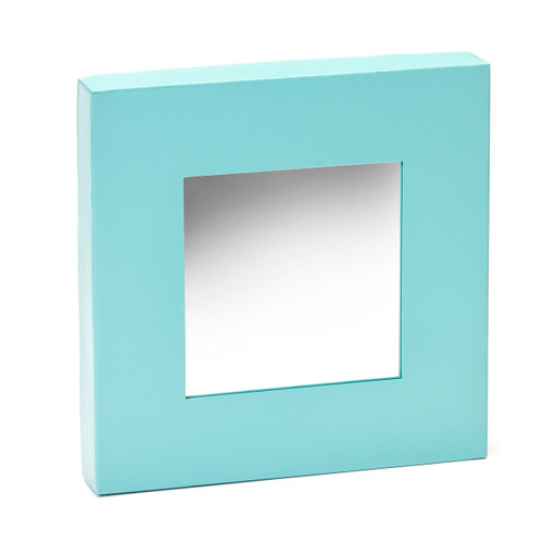 """Embellish Your Story Closeouts: Teal Magnetic Mirror - 10""""sq."""