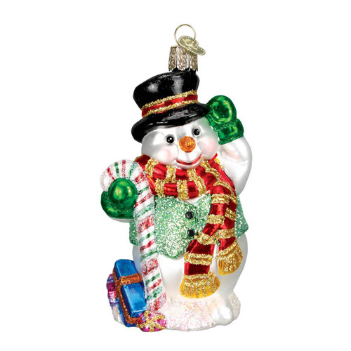 Candy Cane Snowman by Old World Christmas