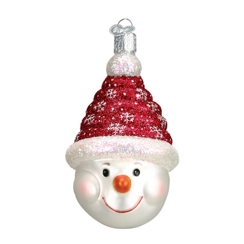Glistening Candy Coil Snowman by Old World Christmas