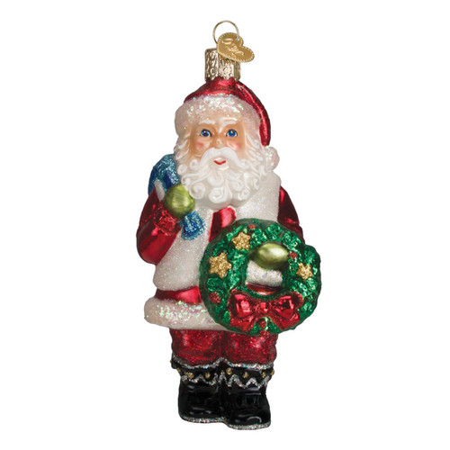 Santa With Wreath by Old World Christmas