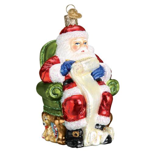 Santa Checking His List by Old World Christmas