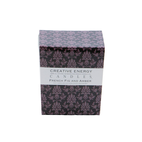 French Fig and Amber 2-in 1 7 oz. Glass Lotion Candle by Creative Energy