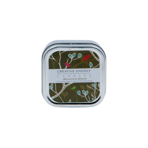 Mountain Grove 2-in-1 3.5 oz. Tin Lotion Candle by Creative Energy