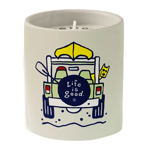 Soft Rain, Jasmine, Veviter Life is Good Premium Soy Candle by A Cheerful Giver