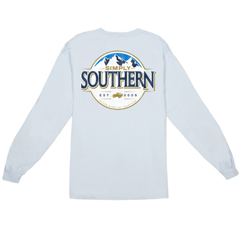 Small Men's Mountain Long Sleeve Tee by Simply Southern Tees