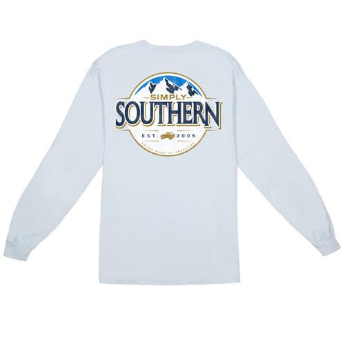 Medium Men's Mountain Long Sleeve Tee by Simply Southern Tees