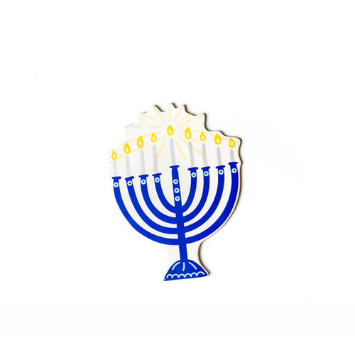 Blue Menorah Mini Attachment by Happy Everything