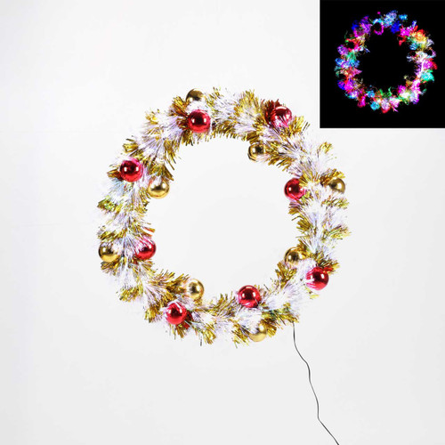 Fiber Optic Wreath With Adaptor by One Hundred 80 Degrees